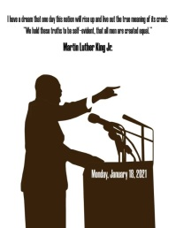 MARTIN LUTHER KING ใบปลิว (US Letter) template