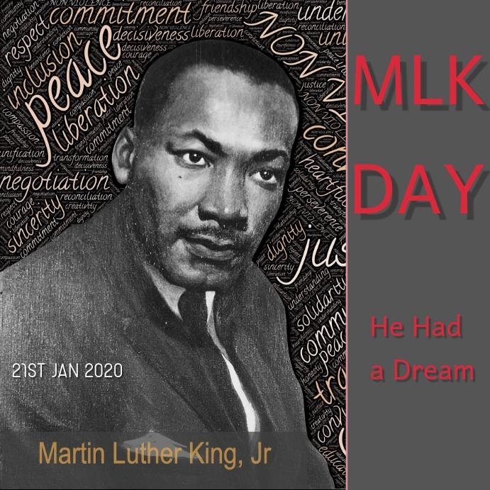 Martin Luther king Publicación de Instagram template