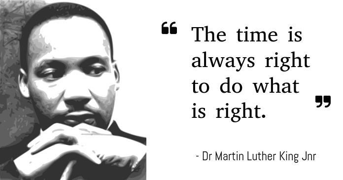 Martin Luther King Facebook Shared Image template