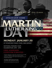Martin Luther King Flyer Volante (Carta US) template