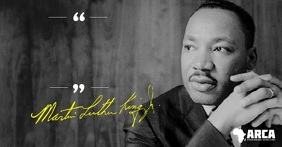 Martin Luther King Inspiration Quote Immagine condivisa di Facebook template