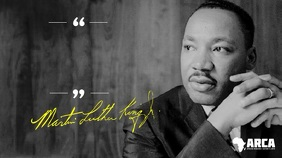 Martin Luther King Inspiration Quote Facebook Digital Display (16:9) template