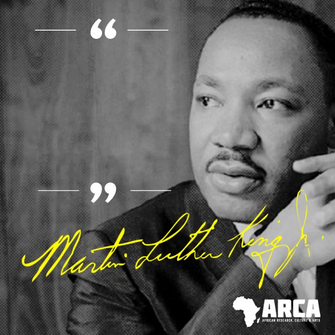 Martin Luther King Inspirational Quote Vierkant (1:1) template