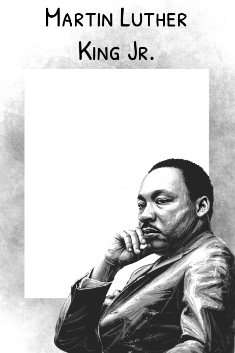 Martin Luther King Jr. Party Prop Frame