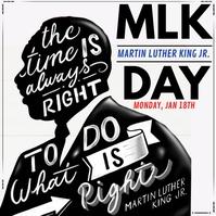 Martin Luther King Jr Day Publicación de Instagram template