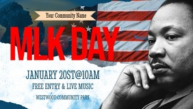 Martin Luther King Jr Day Facebook Cover Video (16:9) template
