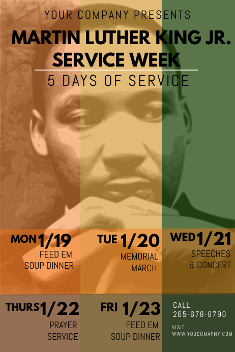 Martin Luther King Jr day event Poster template