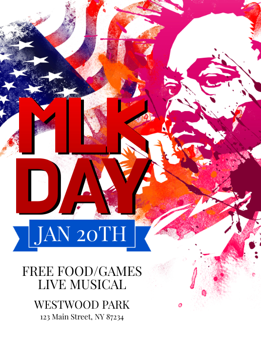 Martin Luther King Jr Day Flyer