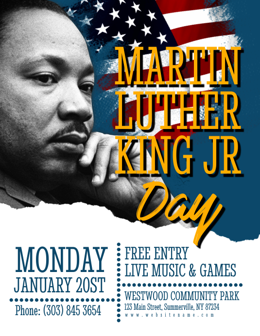 Martin Luther King Jr Day Flyer Template | PosterMyWall