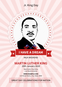 Martin Luther King Jr Day Flyer A4 template