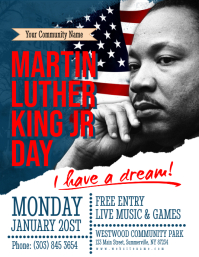 Martin Luther King Jr Day Flyer Volante (Carta US) template