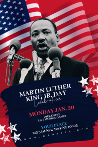 Martin Luther King Jr Day Flyer Template Banner 4' × 6'