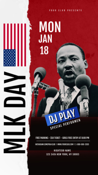 Martin Luther King Jr Day Flyer Template เรื่องราวบน Instagram