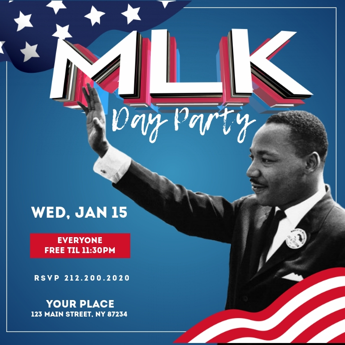 Martin Luther King Jr Day Instagram Template