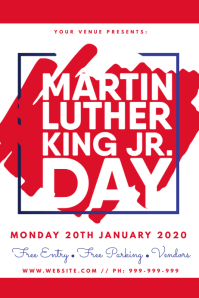 Martin Luther King Jr Day Poster template