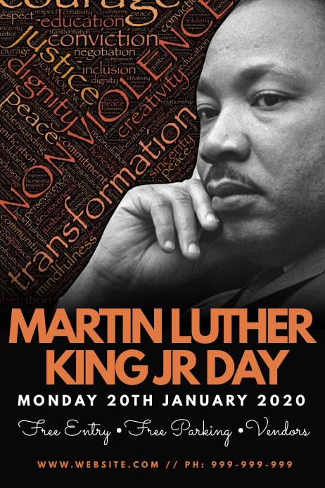 Martin Luther King Jr Day Poster Plakat template