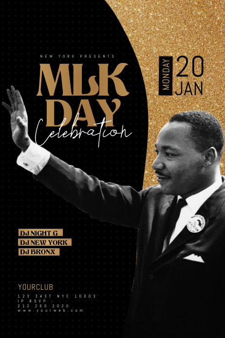 Martin Luther King Jr Day Poster Template | PosterMyWall