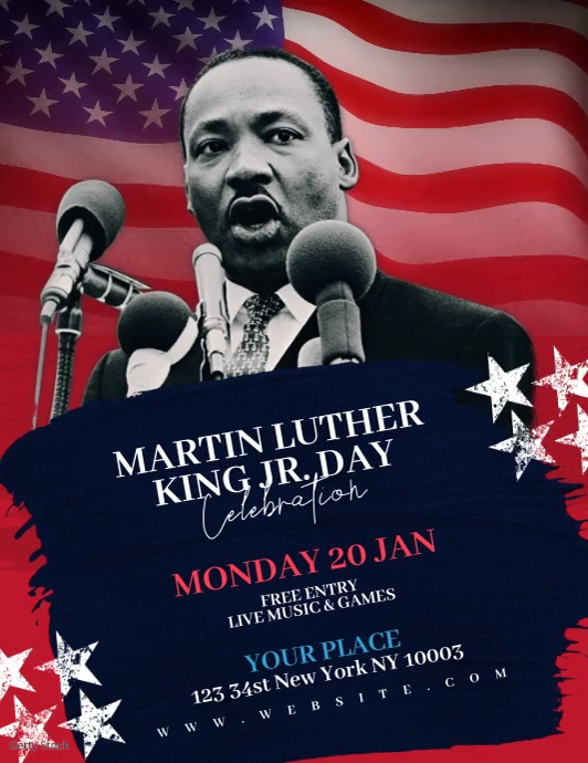 Martin Luther King Jr Day Video Template Pamflet (VSA Brief)