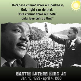 Martin Luther King Jr Pos Instagram template