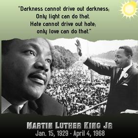Martin Luther King Jr Publicación de Instagram template