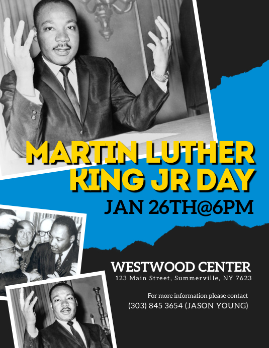 Martin Luther King Jr Flyer