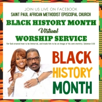 Church Black History Month Worship Instagram Post template