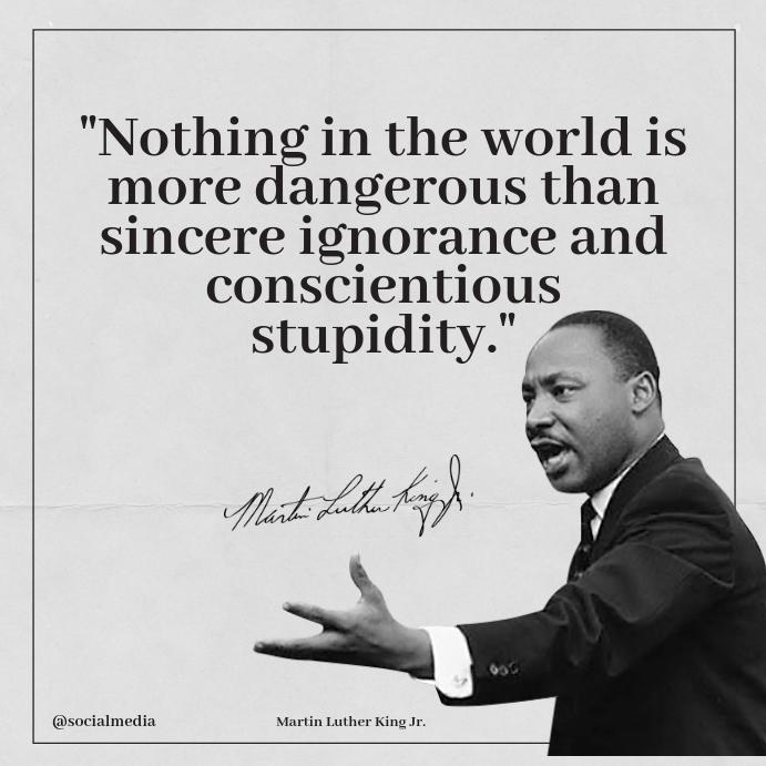 Martin Luther King Jr Tidak Mengutip Templat Postermywall