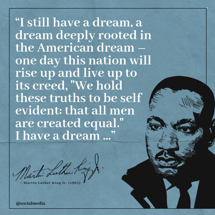 Martin Luther King Jr Quotes Templat Postermywall