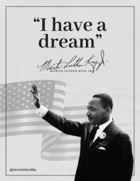 Martin Luther King Jr Quotes - I have a dream Flyer (US-Letter) template