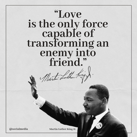 Martin Luther King Jr Quotes Love... Instagram Post template