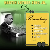 Martin Luther King Jr. Day . ad,, Instagram-bericht template