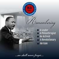 Martin Luther King Jr. Day .. Instagram-Beitrag template