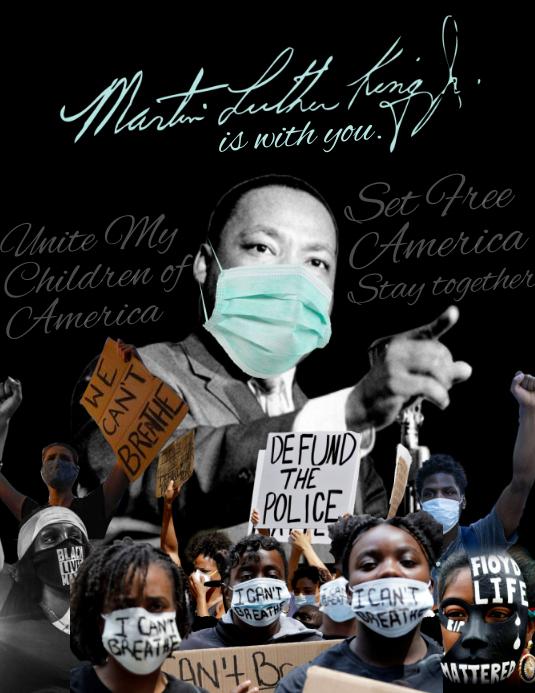 Martin Luther King Jr. Day 2021 Template Iflaya (Incwadi ye-US)