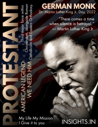 Martin Luther King Jr. Day 2021 Template Рекламная листовка (US Letter)
