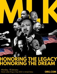 Martin Luther King Jr. Day 2021 Template Flyer (US Letter)