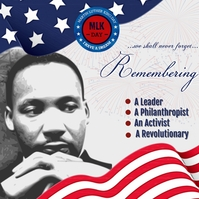 Martin Luther King Jr. Day ads. .. Instagram-bericht template