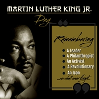 Martin Luther King Jr. Day Card post template