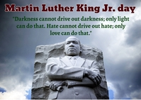 Martin Luther King Jr. day Carte postale template