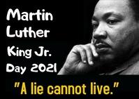 Martin Luther King Jr. day Pocztówka template