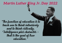 Martin Luther King Jr. day Postcard template