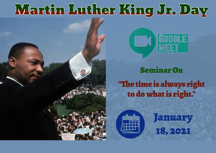 Martin Luther King Jr. day Postal template