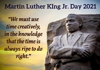 Martin Luther King Jr. day Postkort template