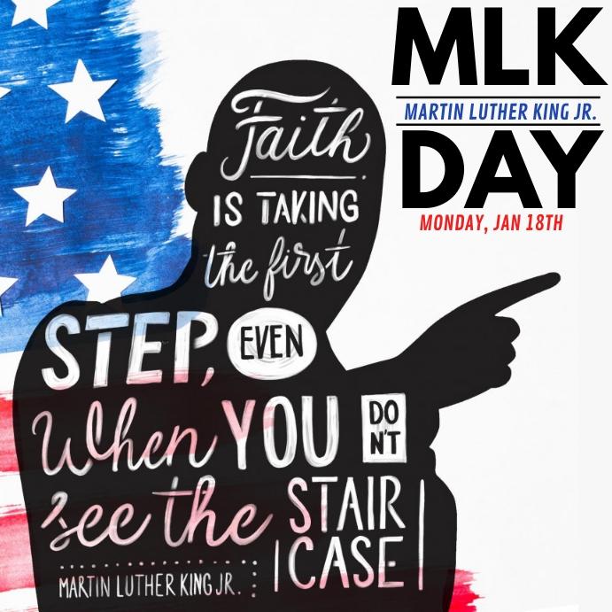 Martin Luther King Jr. Day Publicación de Instagram template