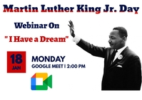 Martin Luther King Jr. day Postkarte template