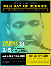 Martin Luther King Jr. Day Event Flyer template