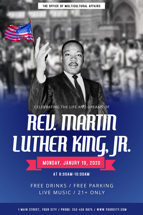 Martin Luther King Jr. Day Portrait Poster