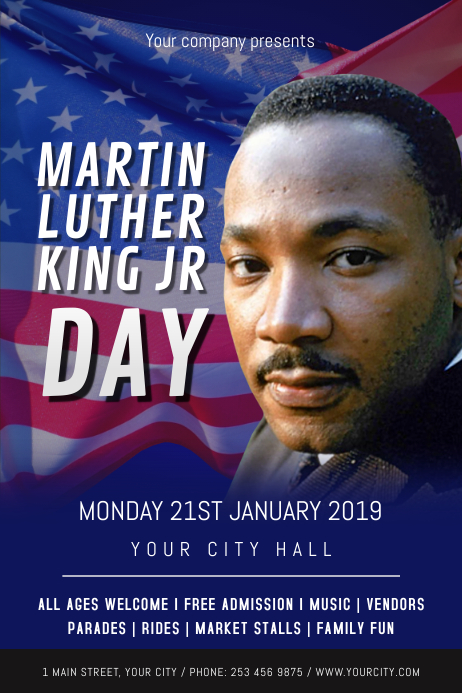 Martin Luther King Jr. Day Poster Plakat template