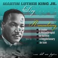 Martin Luther King Jr. Day template - Instagram-bericht