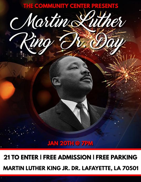 MARTIN LUTHER KING JR. MLK DAY FLYER