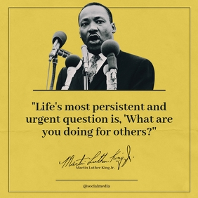 Martin Luther King Jr. Quote, Life โพสต์บน Instagram template
